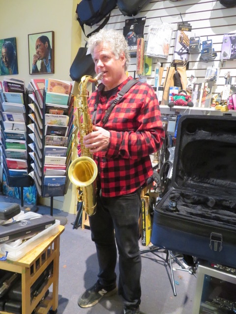 Lenny Pickett, saxophone soloist with Saturday Night Live at Steve Deutsch Woodwinds