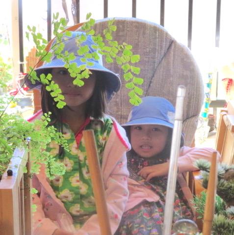 Otoe Mori's kids make themselves at home in Steve Deutsch Woodwinds.