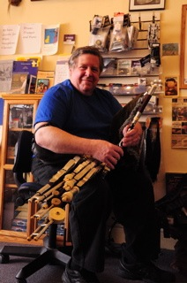 Sean Folsom, master bagpiper, pleased with the repair job by Steve Deutsch Woodwinds