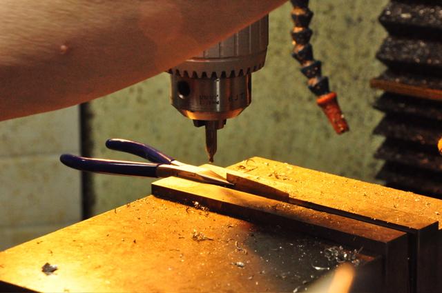 Making a flute repair swedging plier.