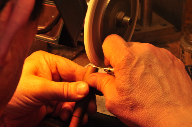 Making a reamer for the holes for the pinning needles used on the Flute A-Bb combination, trill keys and the right hand assembly.