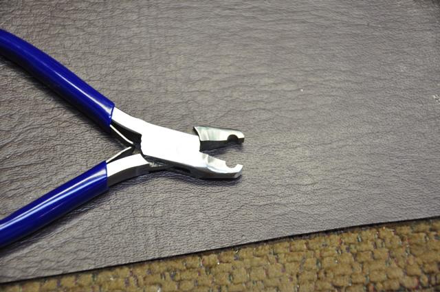 Making swedging plier tool for flute repair.