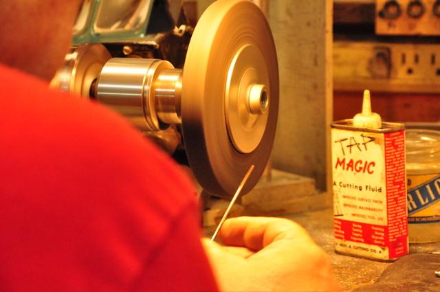 Vermont Flute Workshop key rod reamer hardening process.