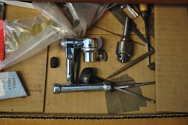 Tools for flute repair.