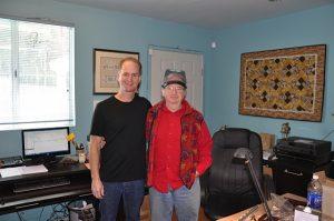 Steve Deutsch with Paul Rabinov at Muramatsu Flute Worksho