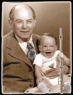 Steve Deutsch Berkeley Woodwind Repairman with his father