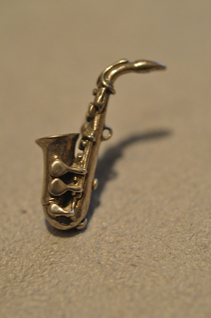 Alto Soprano Saxophone Lapel Pin by Willow Zarlow