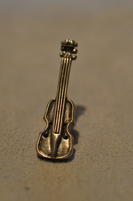 Violin lapel pin by Willow Zarlow $28.00