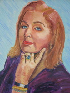 Steve Duetsch portrai of Jazz chanteuse Marky Quayle for her CD cover.