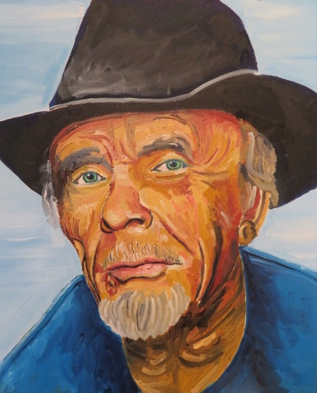 Merle Haggard painting by Steve Deutsch