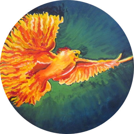 Steve Deutsch Painting - Phoenix Rising