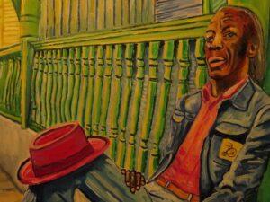 Steve Deutch Art: Professor Longhair close with hat